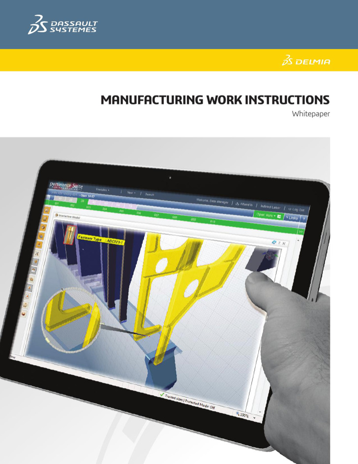 Manufacturing Work Instructions Template