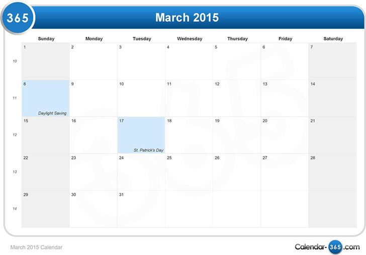 March 2015 Calendar 2