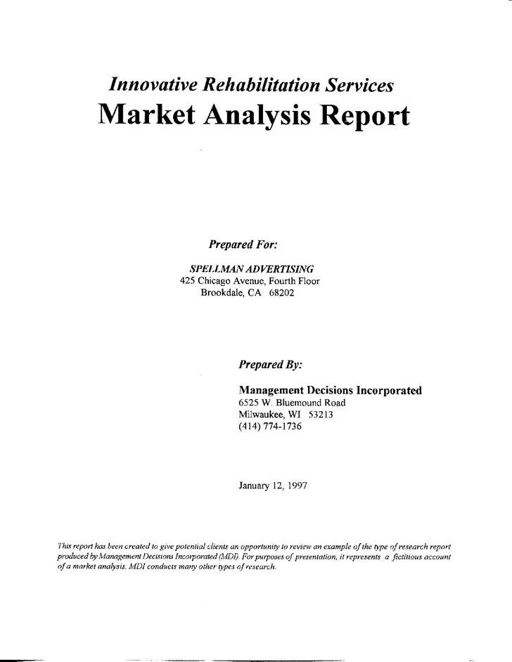 Sample Market Analysis Template Vosvetenet – Sample Marketing Analysis