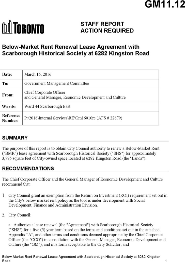 Lease Renewal Template