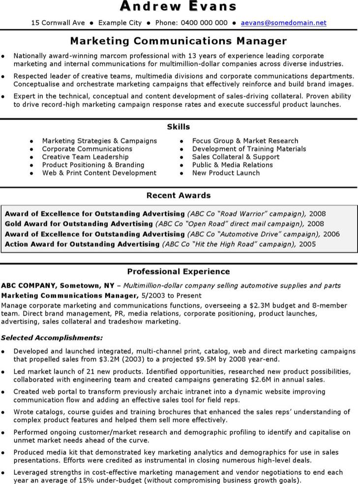 marketing coordinator resume templates free