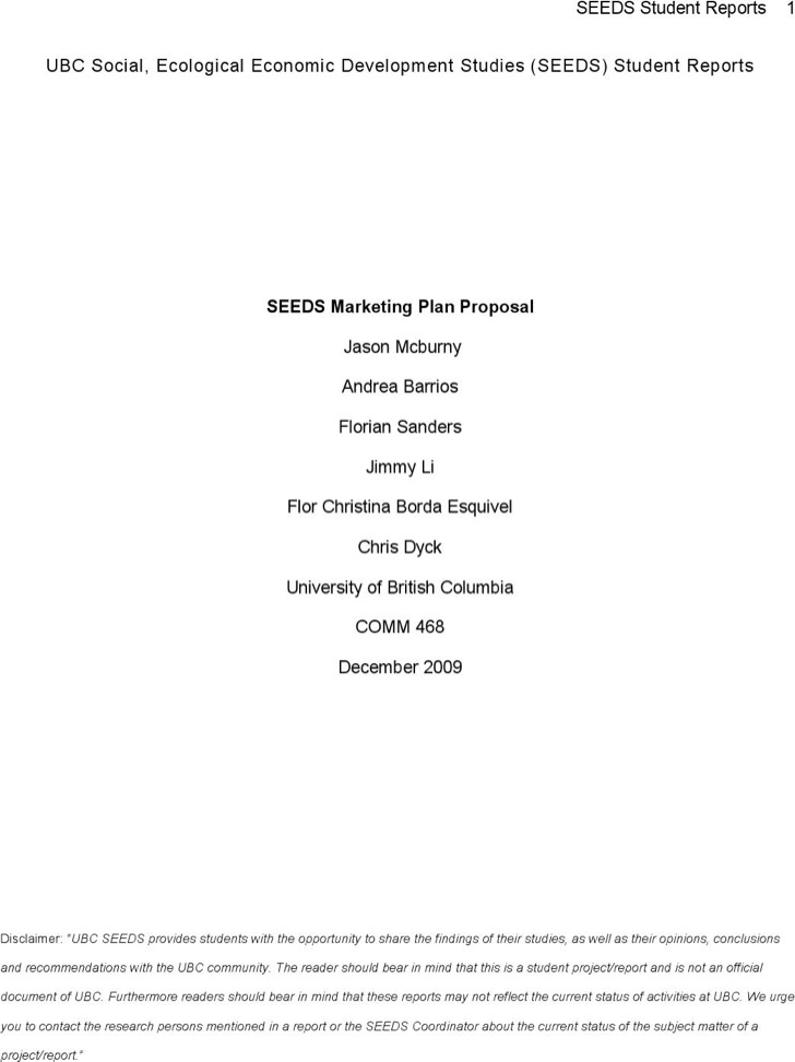marketing proposal project Generic marketing proposal sample created for sales teams in small marketing agencies.