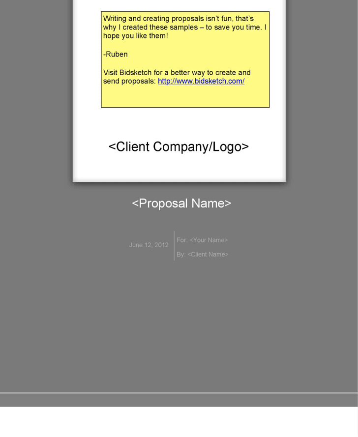 Marketing Proposal Template – Marketing Proposal Samples