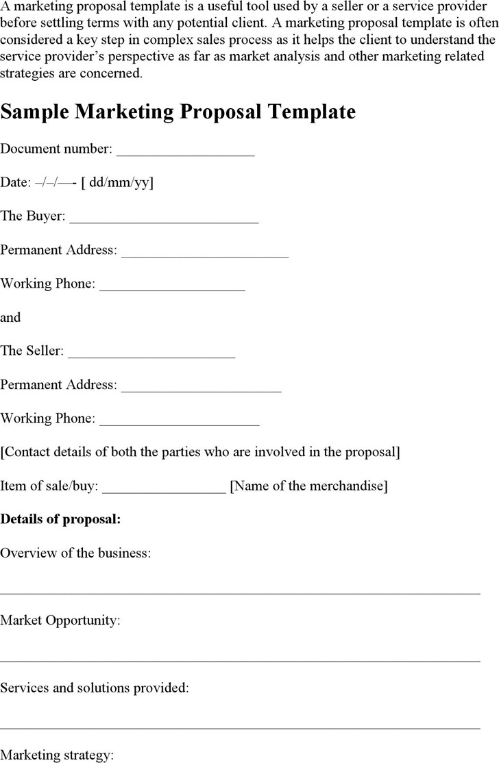Marketing Proposal Template 3