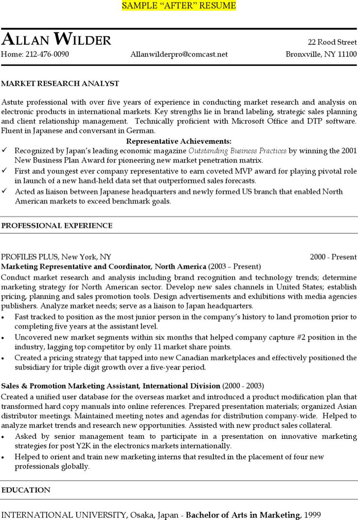 Marketing Analyst Resume Template | Download Free & Premium ...
