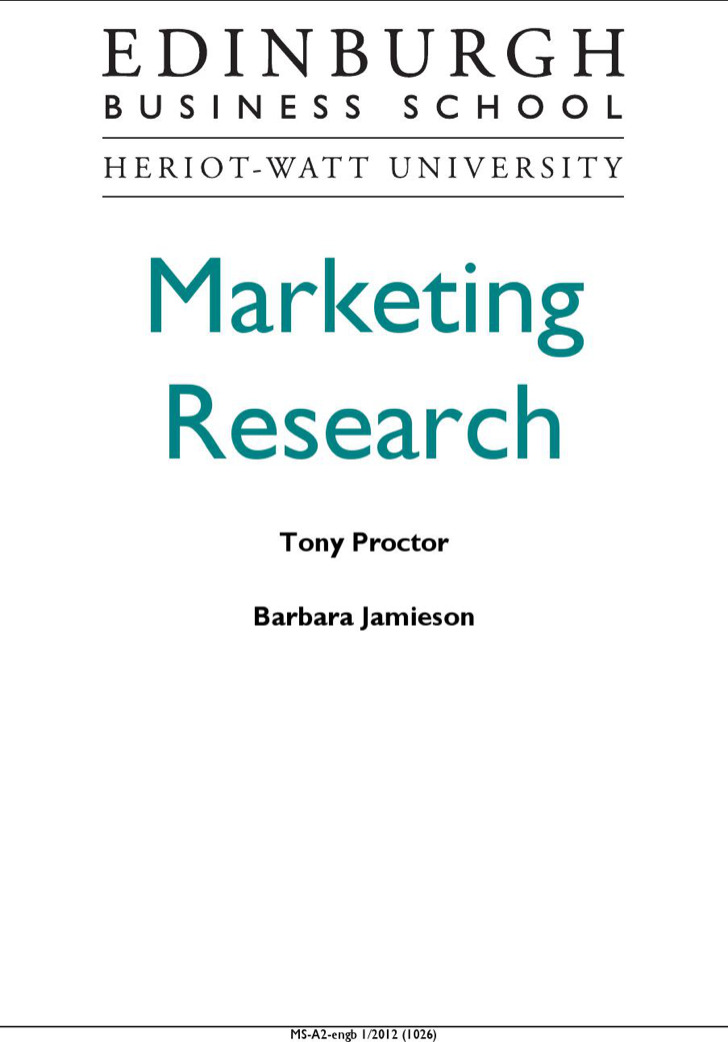 Marketing Research Template