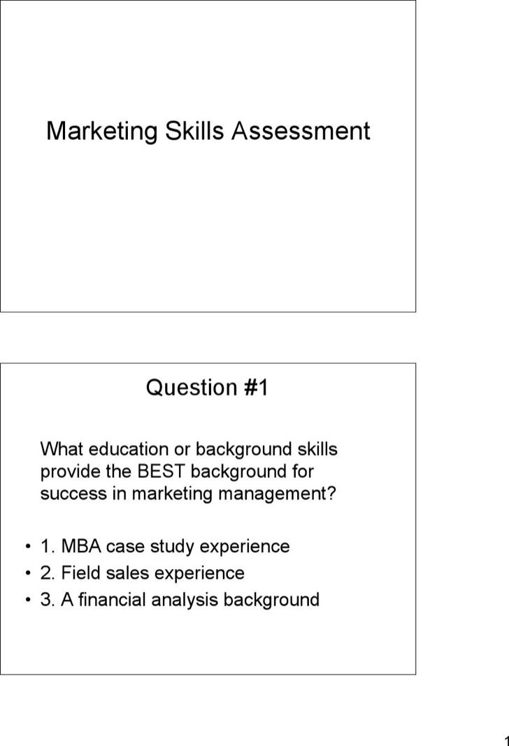 sales skills assessment template