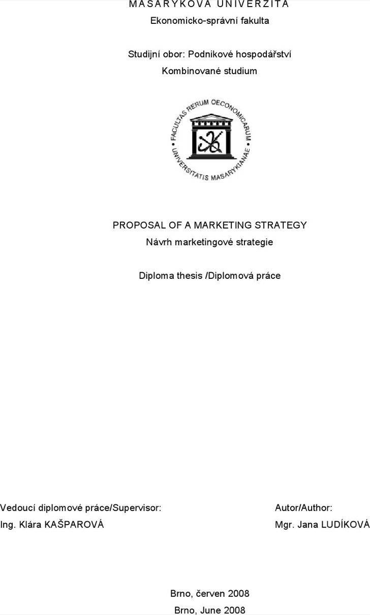 Marketing Strategy Proposal Free Doc