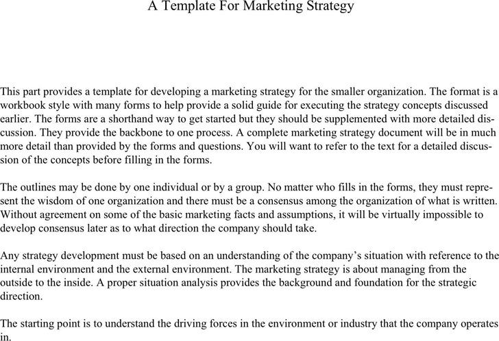 Marketing Strategy Template 1