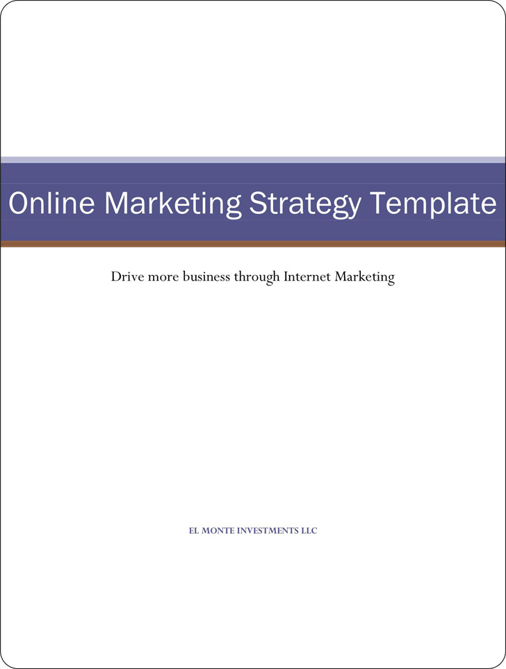 Marketing Strategy Template 2 (Online)