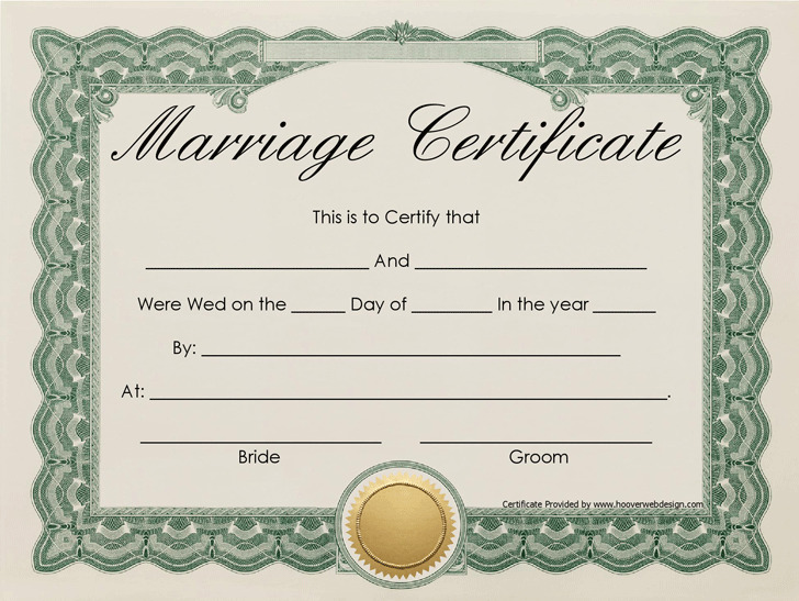 Marriage Certificate  Download Free  Premium Templates Forms