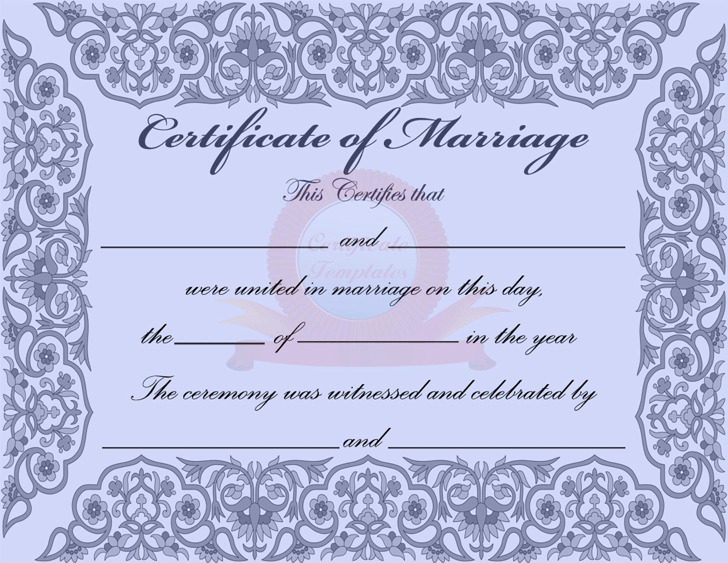 Marriage certificate download free premium templates forms marriage certificate 2 yelopaper Image collections