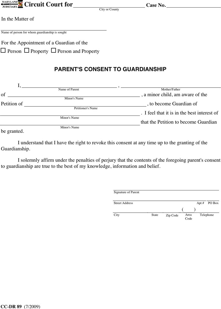 Maryland Guardianship Form 2