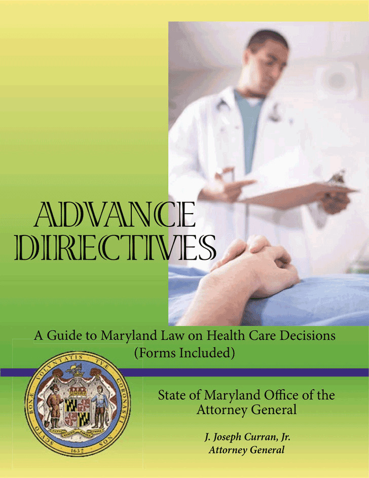 Maryland Medical Advance Directive Form
