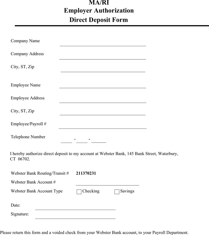 Massachusetts Direct Deposit Form 3