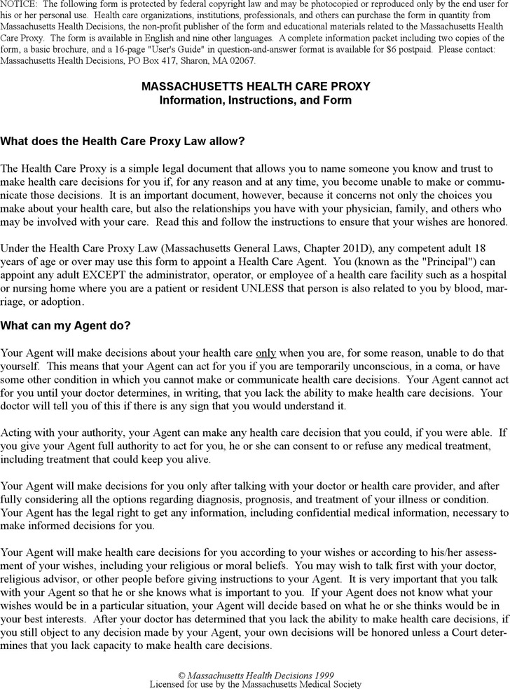 Health Care Proxy Form New Jersey Medical Power Of Attorney Free