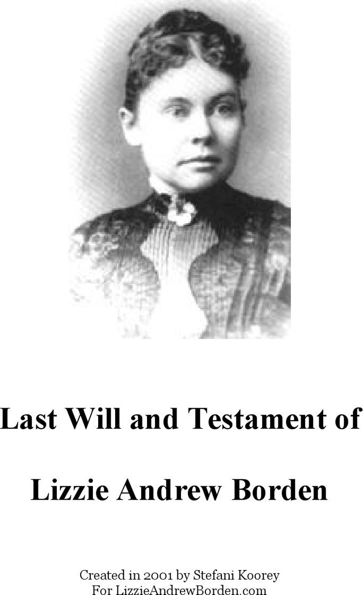Massachusetts Last Will And Testament Sample 1