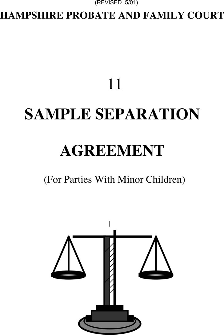 Massachusetts Separation Agreement Template