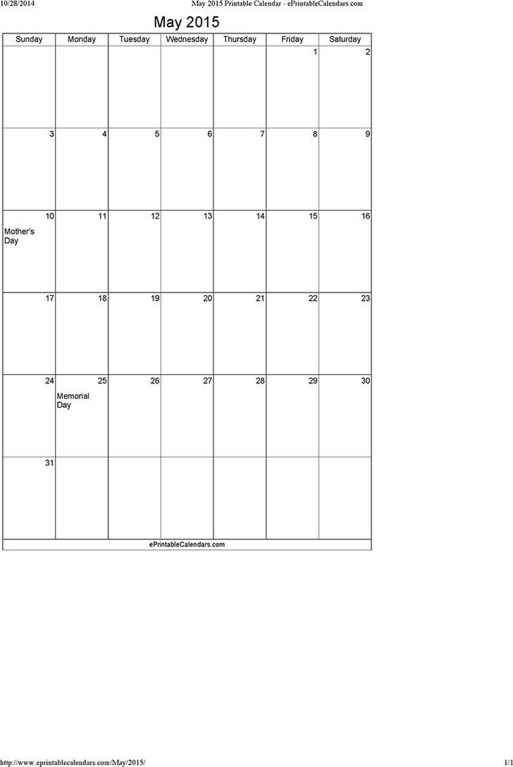 May 2015 Calendar 3