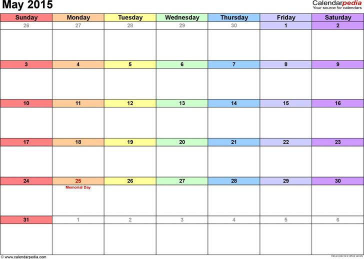 May 2016 Calendar 3