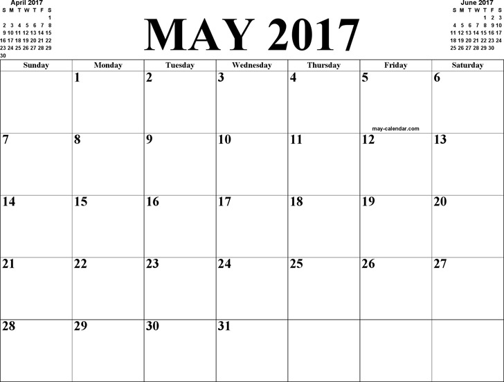 May 2017 Calendar 3