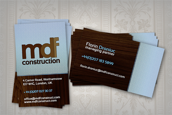 MDF Construction Business Card