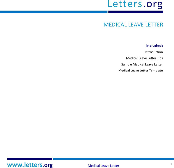 Medical leave letters download free premium templates forms medical check up leave letter spiritdancerdesigns Image collections