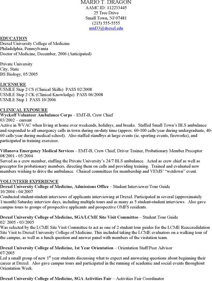 Medical CV Template 3