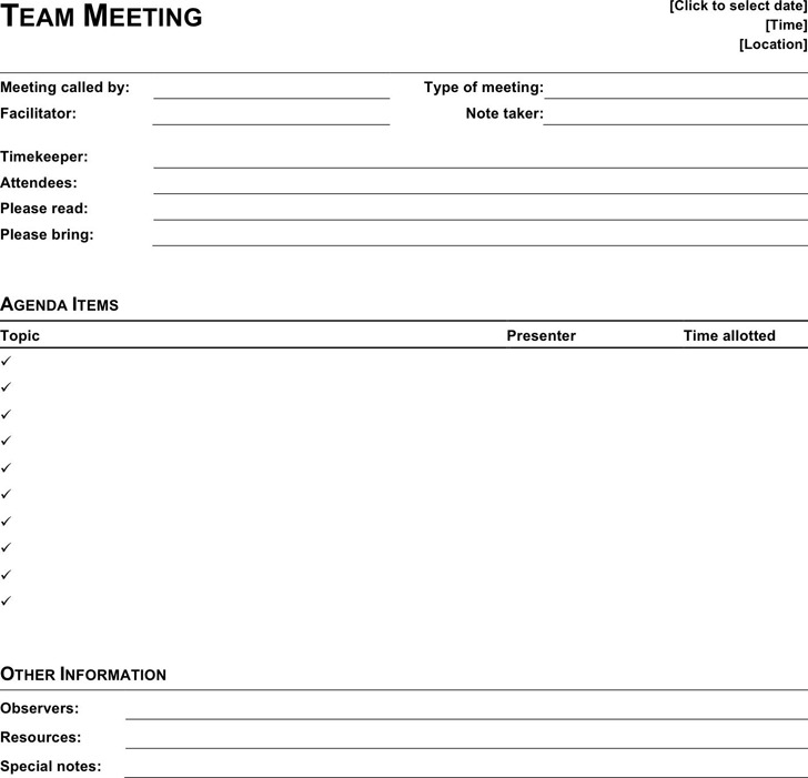Meeting Template