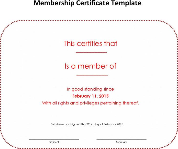 Membership Certificate 3
