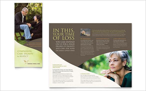 Memorial & Funeral Program Brochure Template