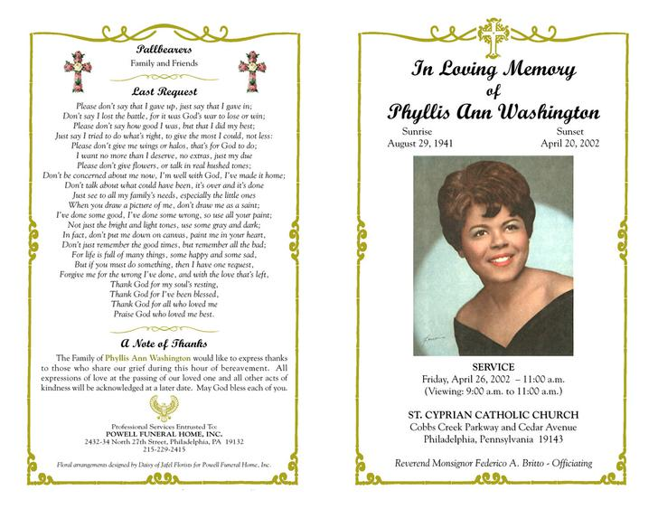 Funeral Program Templates  Download Free  Premium Templates