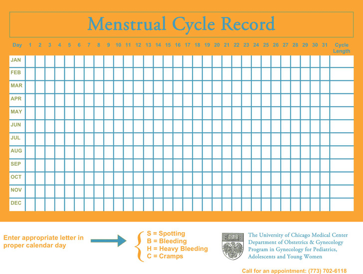 Menstrual Calendar  Download Free  Premium Templates Forms