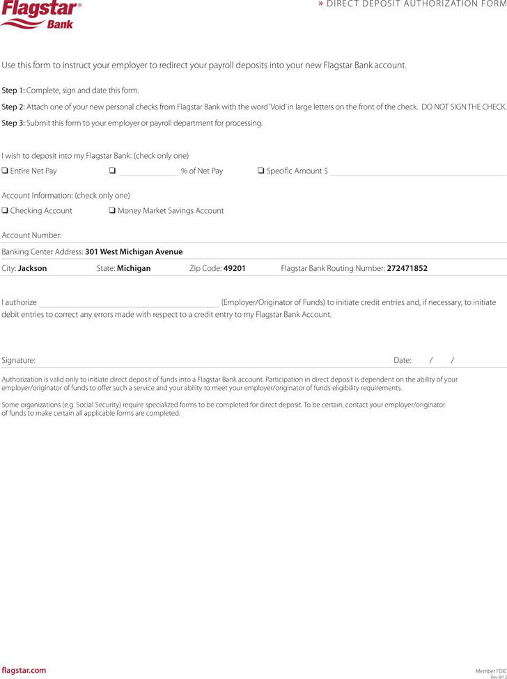 Michigan Direct Deposit Form 2