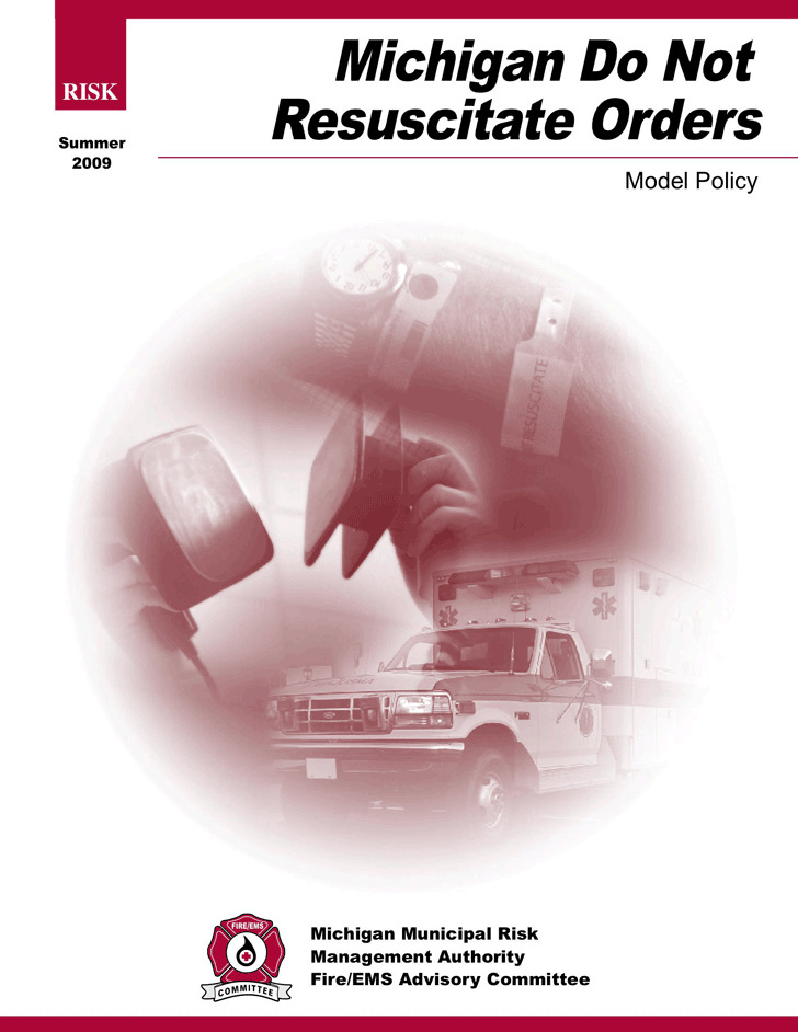 Michigan Do Not Resuscitate Form | Download Free & Premium