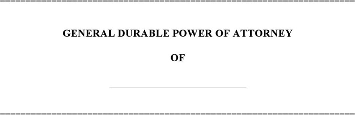 Michigan General Durable Power of Attorney Form