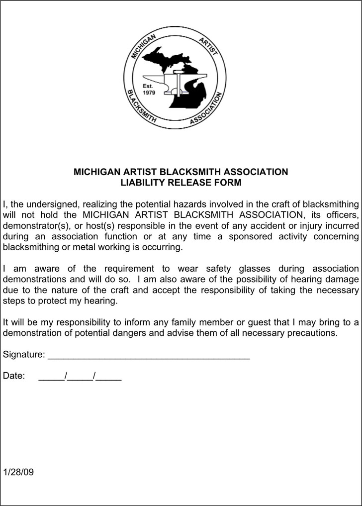 Michigan Liability Release Form 3