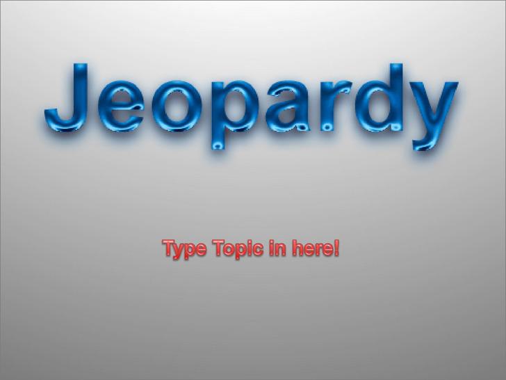 Microsoft Jeopardy Powerpoint Template