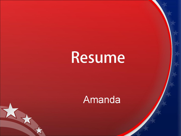 Microsoft Powerpoint Resume Template