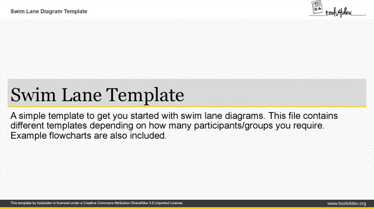 Microsoft Powerpoint Swimlane Template
