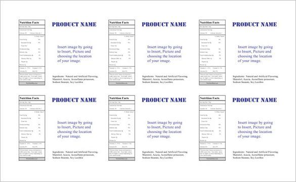Microsoft Shipping Label Sheet Template Sample