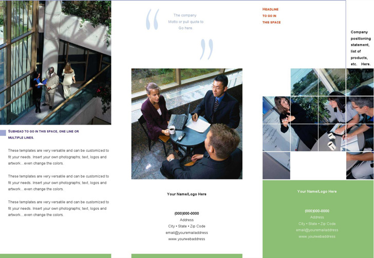 Microsoft Tri Fold Brochure Templates