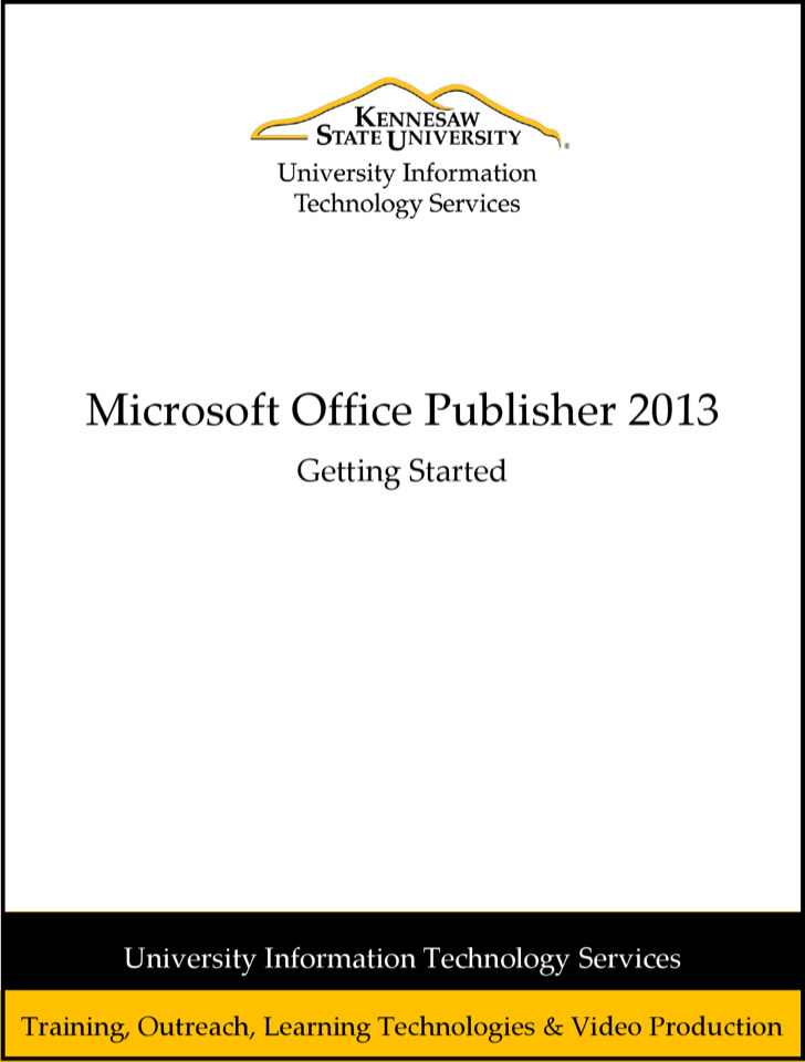 Microsooft Publisher 2013 Brochure Free Pdf Template