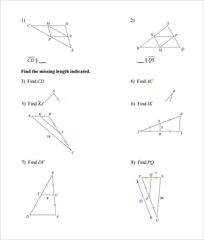 sample high school geometry worksheet templates download free premium templates forms. Black Bedroom Furniture Sets. Home Design Ideas