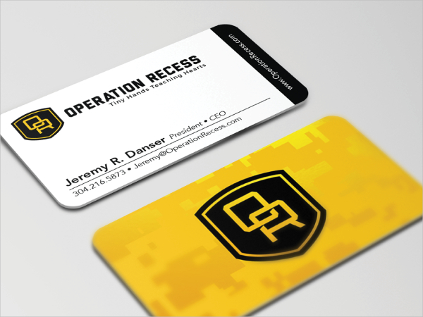 Military Badge Business Card