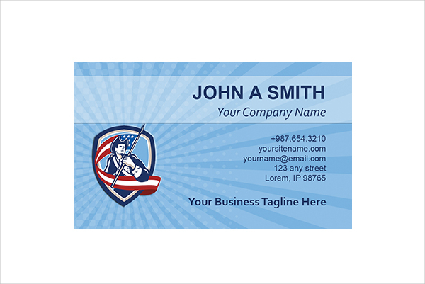 Military Soldier Business Card