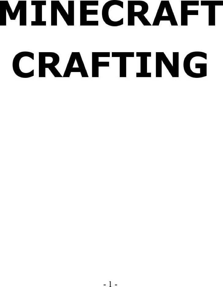 Minecraft Paper Template