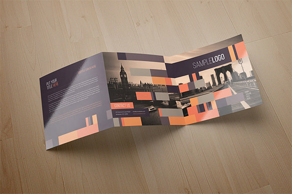 Minimal Square Trifold Modern Brochure for $10