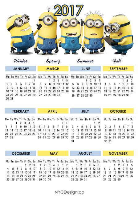 Minions Calendar 2017