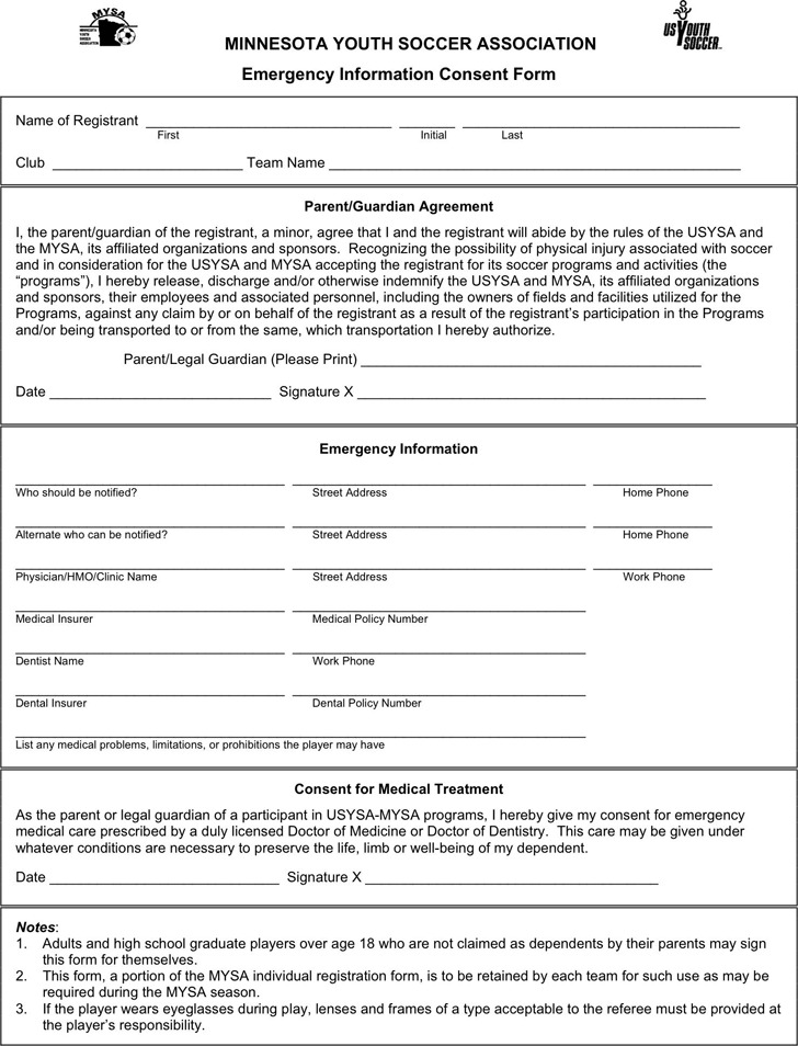 Minnesota Emergency Information Consent Form